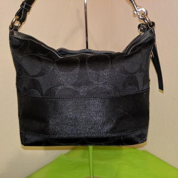 Coach Handbags - Coach Lurex Sig C Satchel Tote Handle Bag EUC